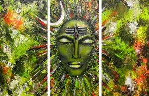 Boom Shankar Acrylic on canvas, 40 x 60 cms triptych February 2013 (2)