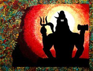 Shiva in meditation Acrylic on canvas 119 x 89 cms January 2013