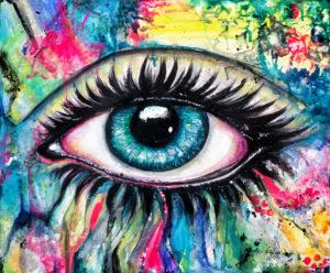 Blink Acrylic on canvas 46 x 38 cms September 2015